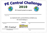 PE Central Challenge Certificates